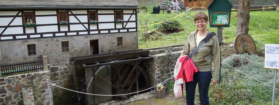 Wasserrad der Schulzen Modellmühle 1:5