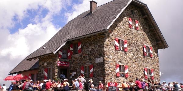 Gipfelmesse auf der Wolfsberger Hütte