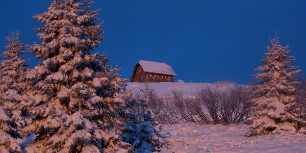 Im Winter bei der Wolfsberger Hütte