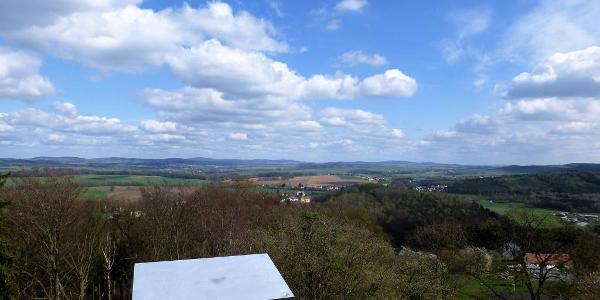 Blick vom Aussichtsturm des Belvedere