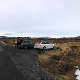 Parkplatz bei Reykjahlid