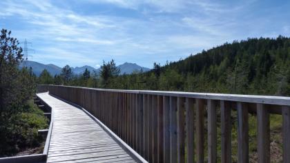 Rampe durch das Piller Moor im Naturpark Kaunergrat