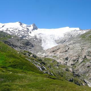 Blick zum Grossvenediger  vom gletscherweg
