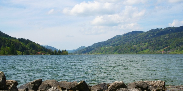 View of lake Großer Alpsee