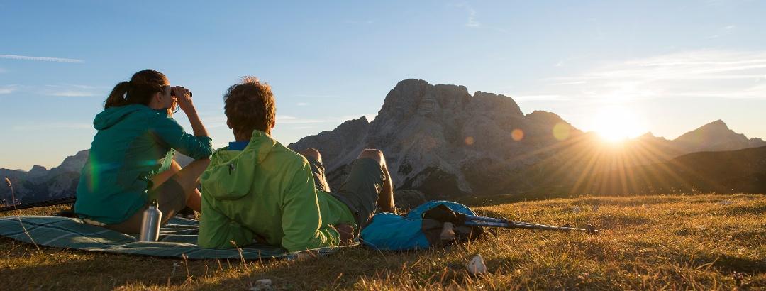 Sonnenbad in Südtirol