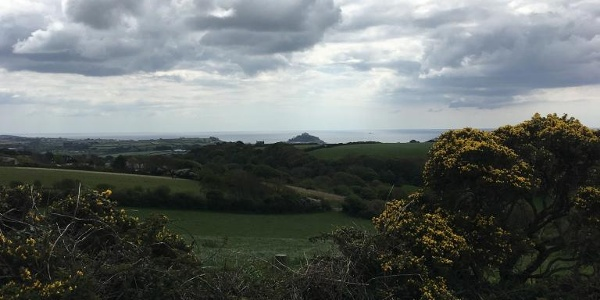 St Michaels Mount in the distance