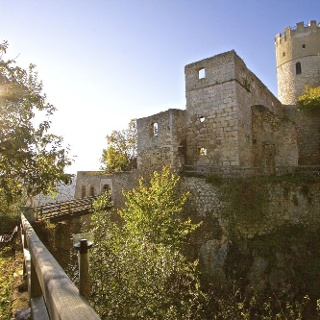 Burg Randeck und Essing im Altmühltal