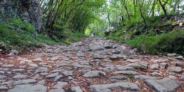 """Die römische Straße """"Brozzera"""" - Drena"""