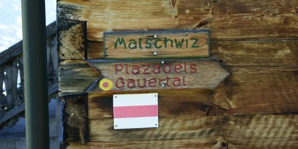 Wegweiser Matschwitz