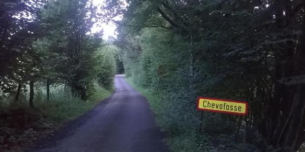 Smal wegje maar goed berijdbaar in Chevofosse