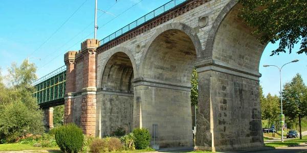 Eisenbahnviadukt in Koblenz