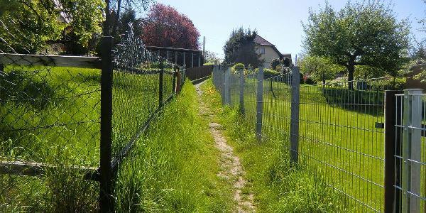 Hübscher Wiesenweg hinter den Grundstücken