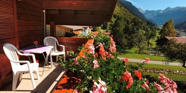 Balkon mit Blick auf die Silvretta