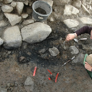 Ausgrabungen der Bergschmiede