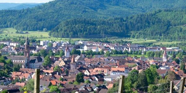 Blick vom Aussichtspunkt Wolfslache auf Gengenbach