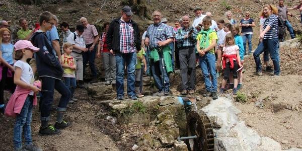 Eröffnung des Wasserrades an der Wassertretstelle