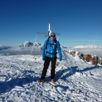 Martin am Gipfel vom Leobner
