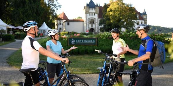 Radfahrer in Jagsthausen
