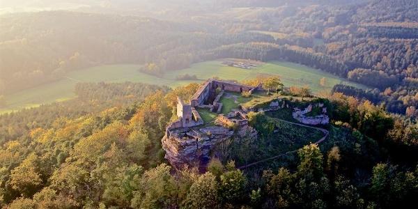 Burgruine Lindelbrunn Sonne