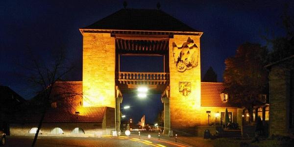 Deutsches Weintor bei Nacht