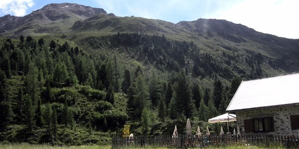 wunderschöne Aussicht ab der Hütte