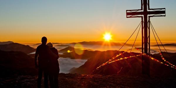 Am Hochschwab-Gipfel