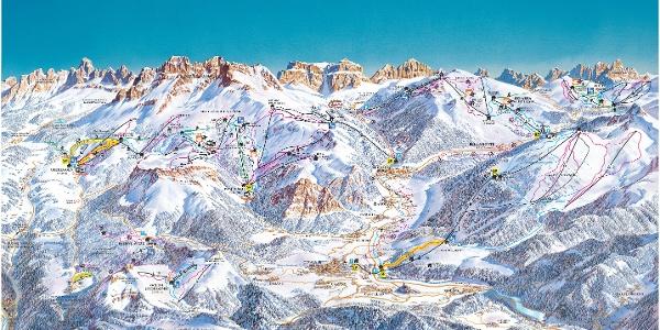 Pistenpanorama Val di Fiemme/ Obereggen 2017