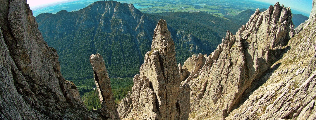 These wild rock towers are not in the Dolomites, but in the Ammergau Alps