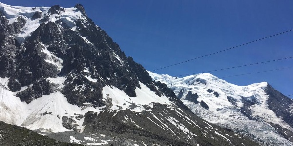 The view up to Aiguilles du Midi, one of the absolute highlights of your trip.