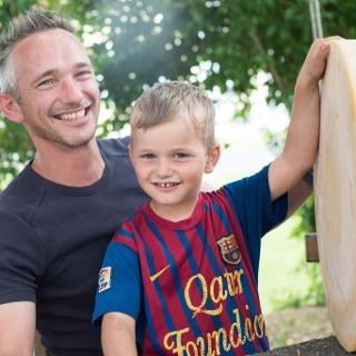 Käse Max mit Sohn