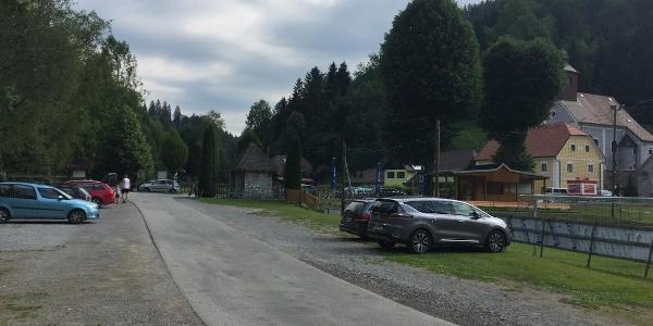 Parkplatz in Arzberg.