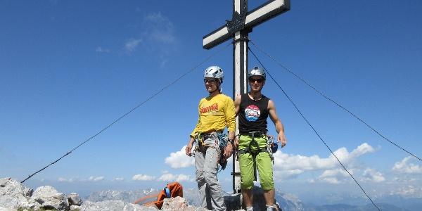 Gipfelfoto auf der Torsäule