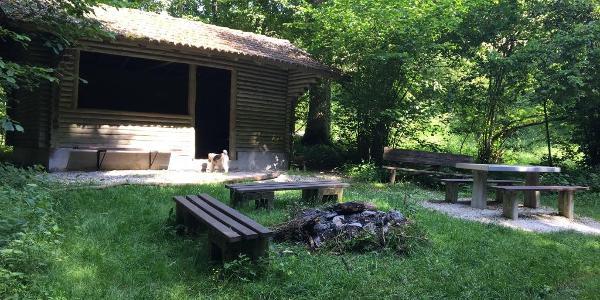 Schutzhütte im Lautertal