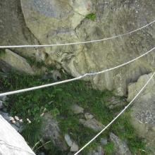 3Seil Brücke am Ende.