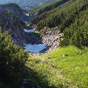 Altschneefelder neben dem Weg zum Gipfel