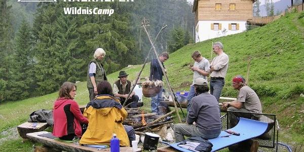 Wildniscamp - Sommercamp - Familienurlaub Oberösterreich - Natur entdecken