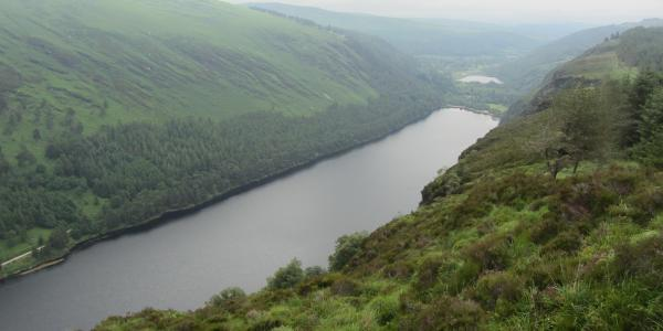 Blick von oben auf den Upper Lake