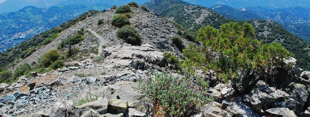 Blick vom Madari nach Westen in Richtung Troodos-Gebirge