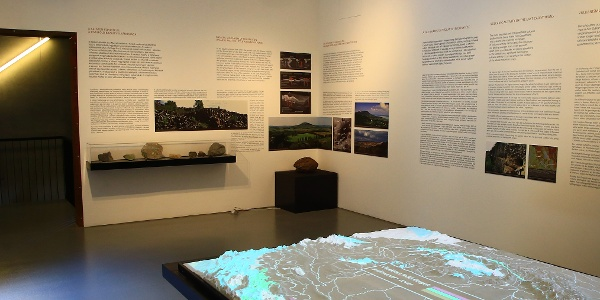 A Kárpát-medencét bemutató terem (Kemenes Vulkánpark)