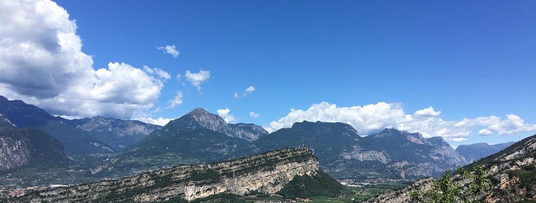 View down onto Torbole