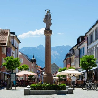 Wanderung - Von Ohlstadt nach Murnau am Staffelsee - Die Fußgängerzone Murnau