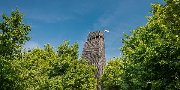 A Nagy-kopasz fákkal borított tetején bújik meg a Csergezán Pál-kilátó
