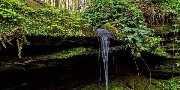 Unterer Wasserfall Hexenklamm