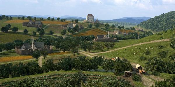Visualisierung Geburtsort Hildegard/Niederhosenbach um 1100