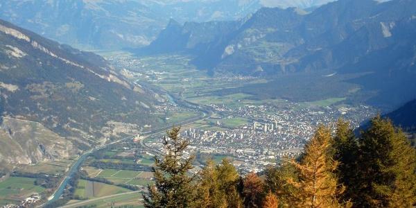 Aussicht vom Dreibündenstein auf Chur