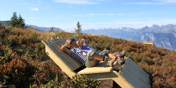 Entspannung auf dem Heidipfad