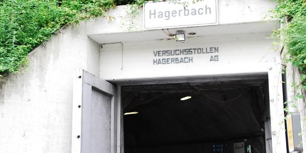 Eingang zum Versuchsstollen Hagerbach