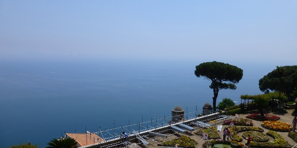 Blick über die Gärten der Villa Rufolo