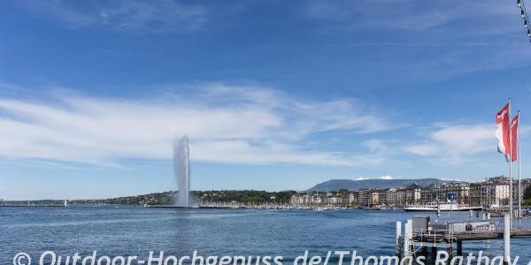 Startpunkt am Genfer See - Lac Leman