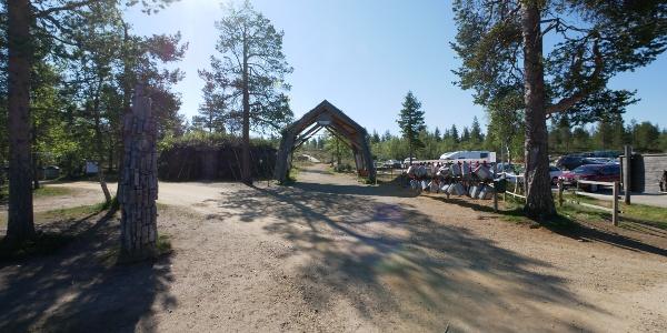At the starting point near the Fjell Center Kiilopää